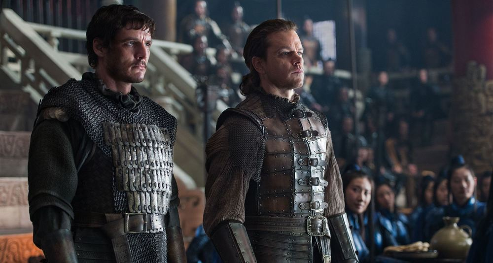 The Great Wall: Matt Damon e Pedro Pascal in una scena del film