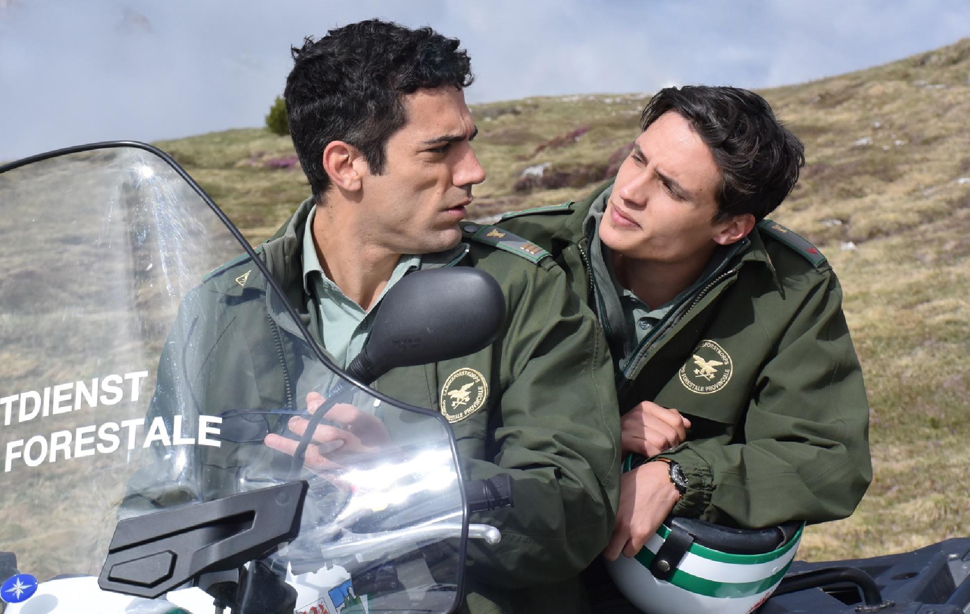 Un passo dal cielo: Tommaso Ramenghi e Pierangelo Menci in una foto della quarta stagione