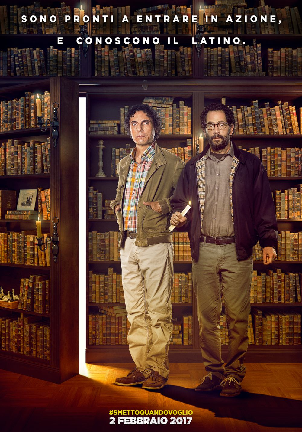 Smetto quando voglio - Masterclass: il character poster di Valerio Aprea e Lorenzo Lavia