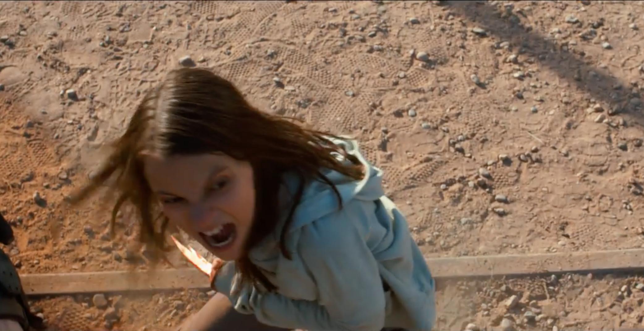 Logan: Dafne Keen in una scena del film