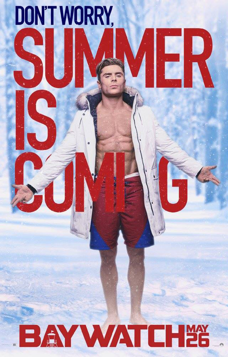 Baywatch: il character poster di Zac Efron