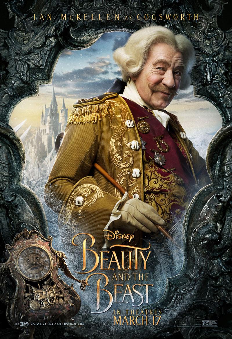 La Bella e la Bestia: il character poster di Ian McKellen