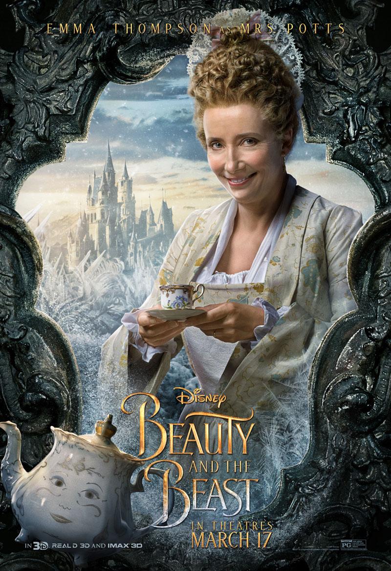 La Bella e la Bestia: il character poster di Emma Thompson