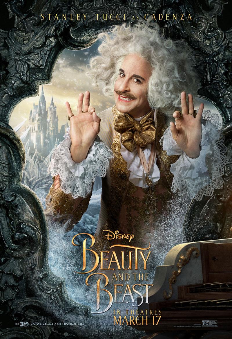 La Bella e la Bestia: il character poster di Stanley Tucci