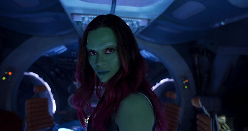 Guardiani della Galassia Vol. 2: un primo piano di Zoe Saldana
