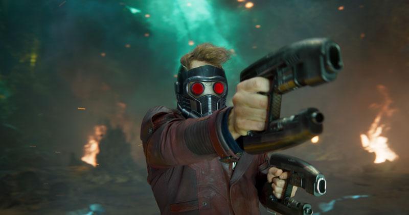 Guardiani della Galassia Vol. 2: Chris Pratt in azione nei panni di Star-Lord