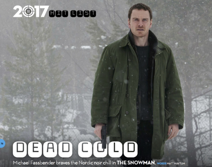 The Snowman: Michael Fassbender durante le riprese