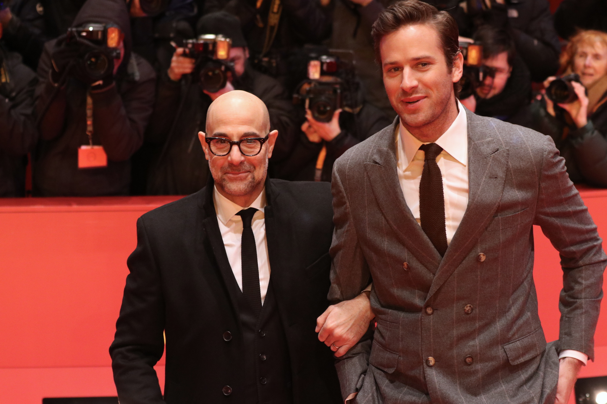 Berlino 2017: Stanley Tucci e Armie Hammer sul red carpet di Final Portrait