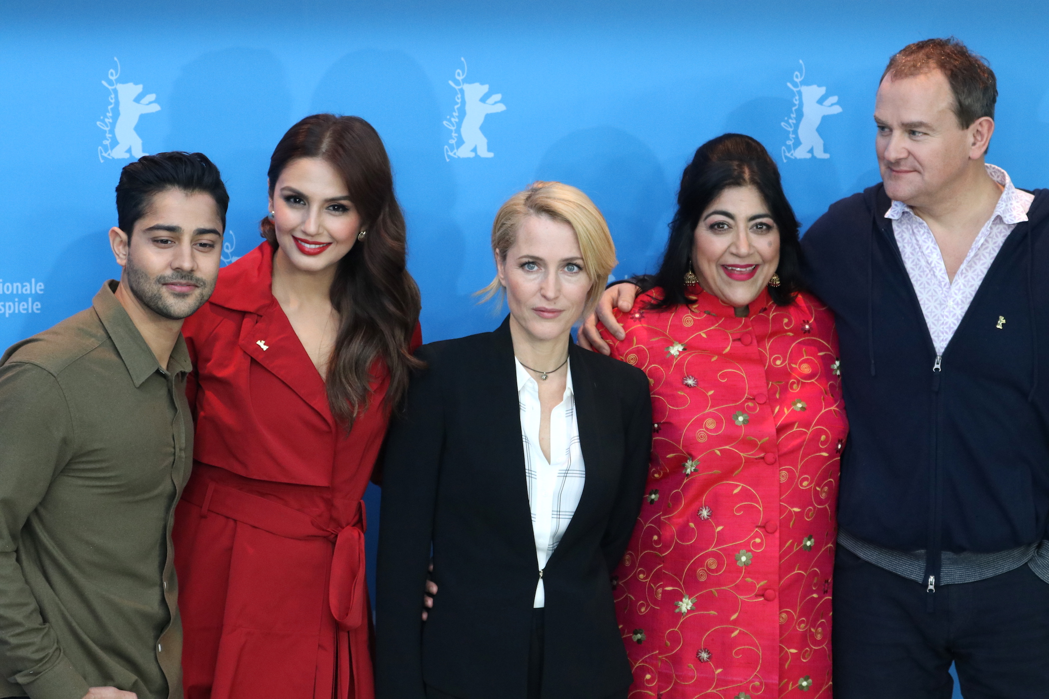 Berlino 2017: Gillian Anderson, Manish Dayal, Hugh Bonneville, Huma Qureshi e Gurinder Chadha al photocall di Viceroy's House