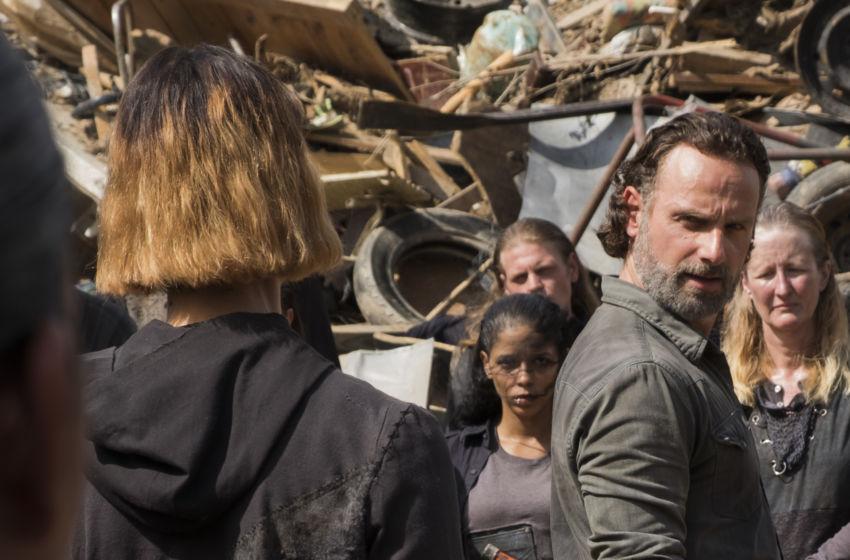 The Walking Dead: un momento dell'episodio Ci vuole coraggio con Andrew Lincoln nel ruolo di Rick Grimes