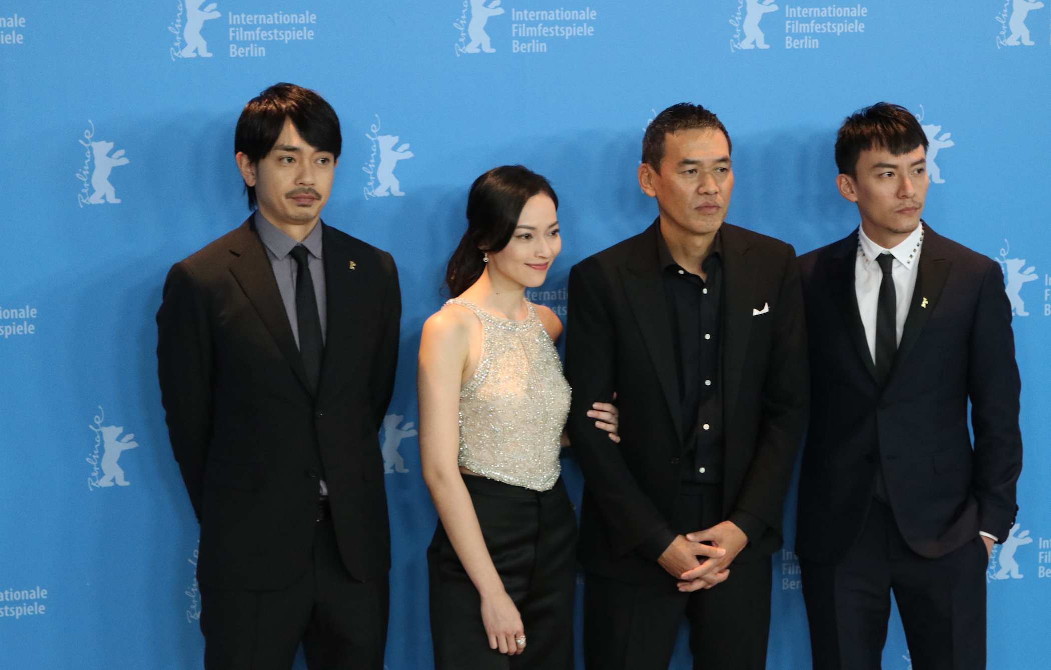 Berlino 2017: Sabu, CHANG Chen, Sho AOYAGI, Yao Yiti,  al photocall di Mr. Long