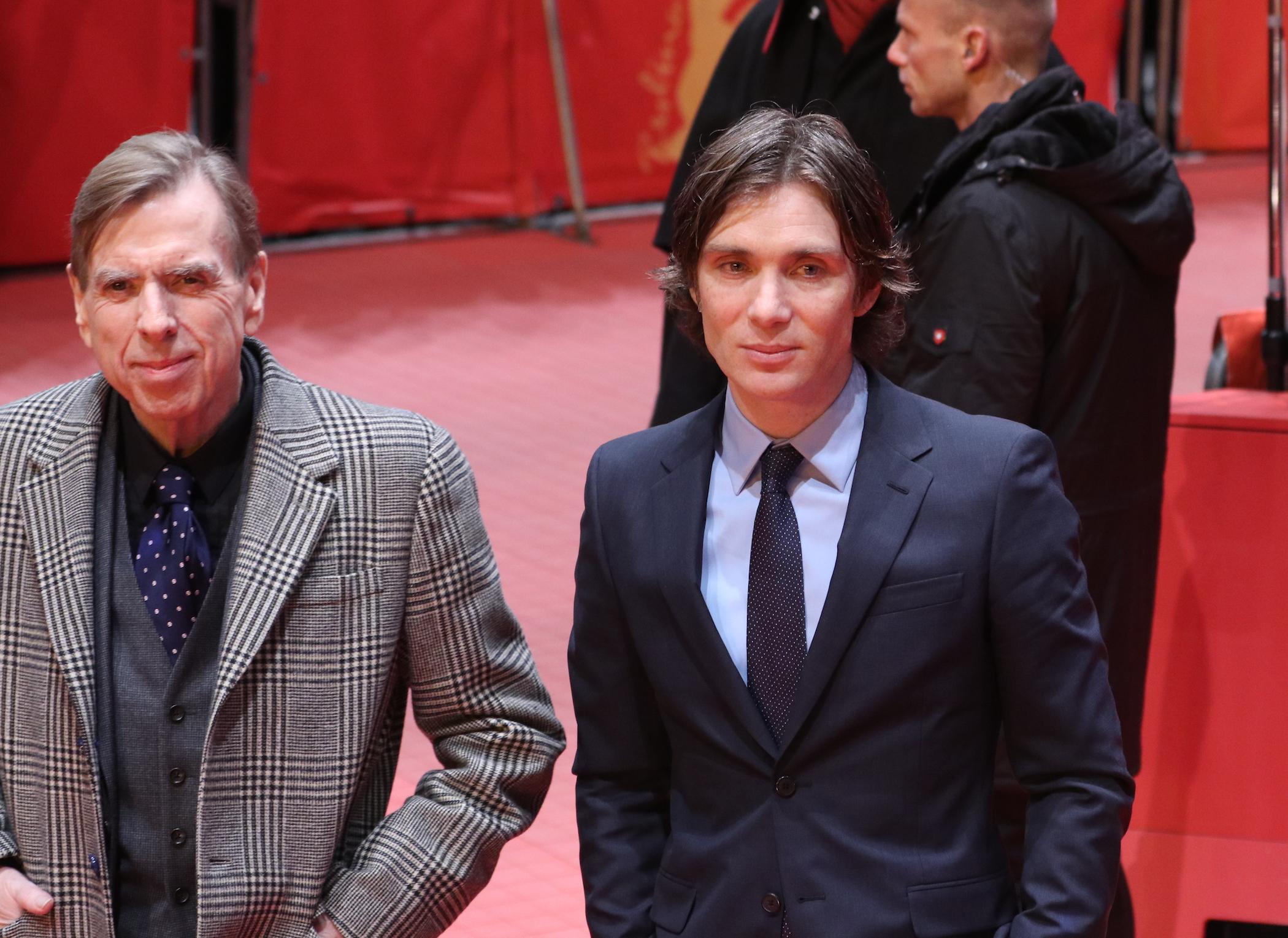 Berlino 2017: Cillian Murphy e Timothy Spall sul red carpet di The party
