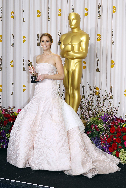 Jennifer Lawrence alla cerimonia degli Oscar del 2013