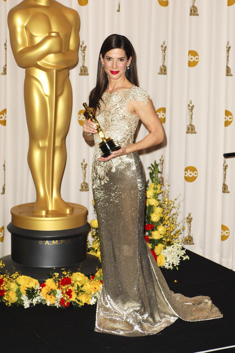 Sandra Bullock alla cerimonia degli Oscar del 2009
