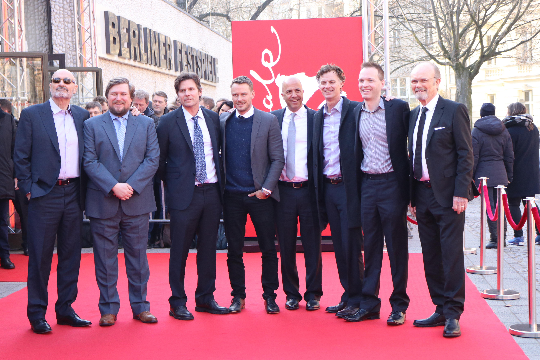 Berlino 2017: Terry O'Quinn, Michael Dorman, Kurtwood Smith, Michael Chernus sul red carpet di Patriot
