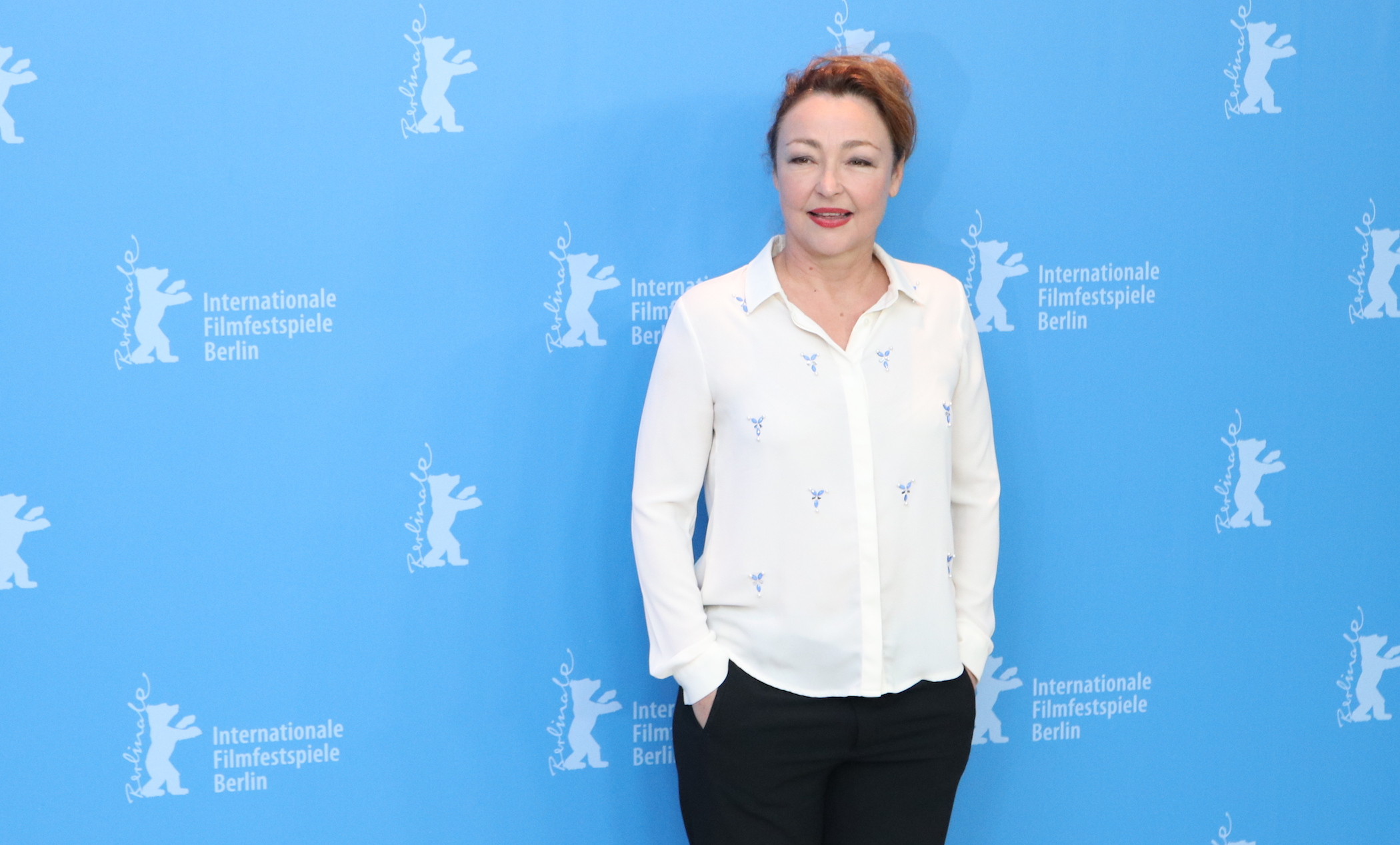 Berlino 2017: Catherine Frot al photocall di The Midwife