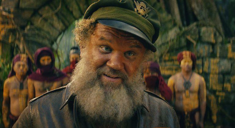 Kong: Skull Island, John C. Reilly in una scena del film