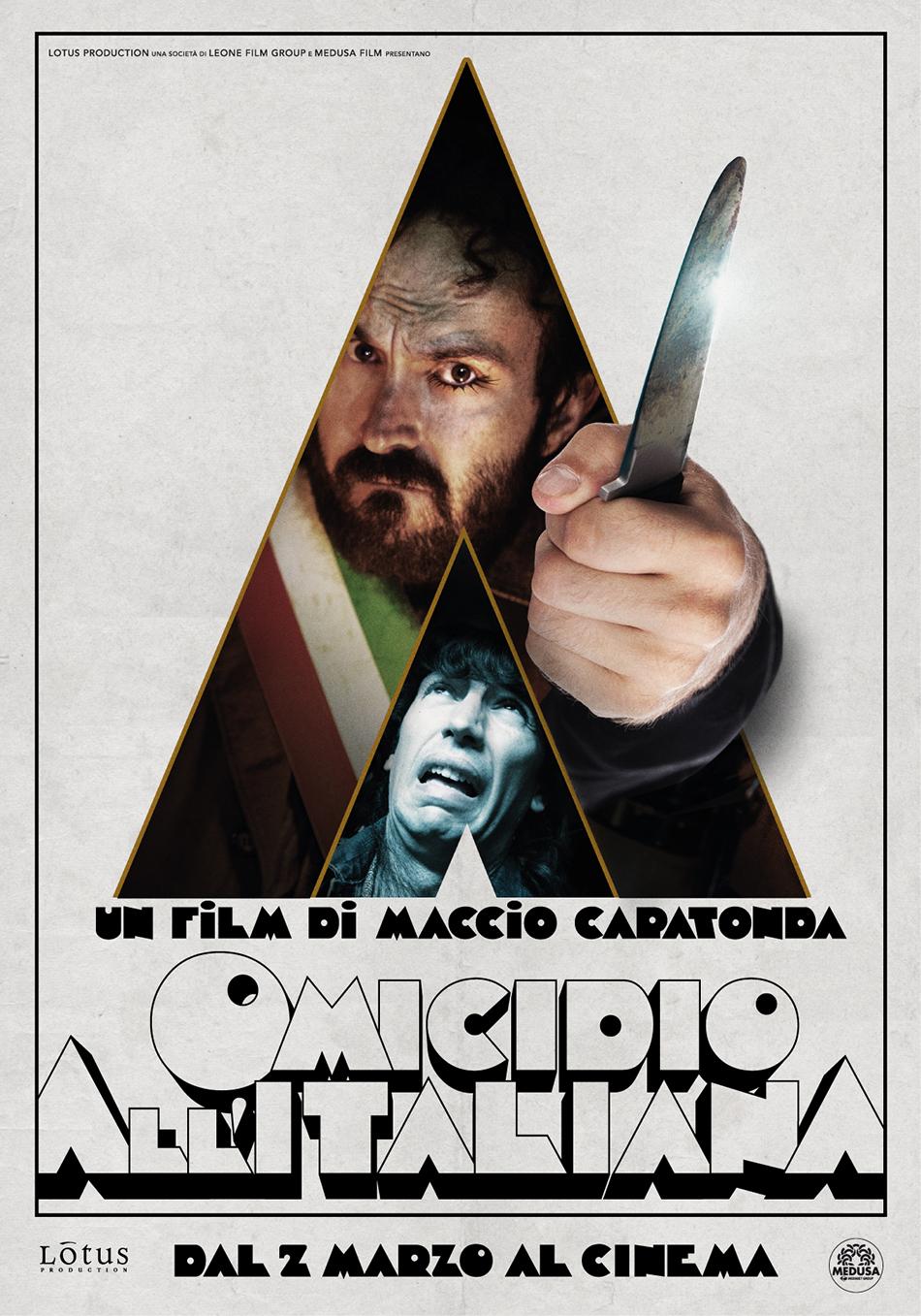 Omicidio all'Italiana: il poster parodia di Arancia Meccanica