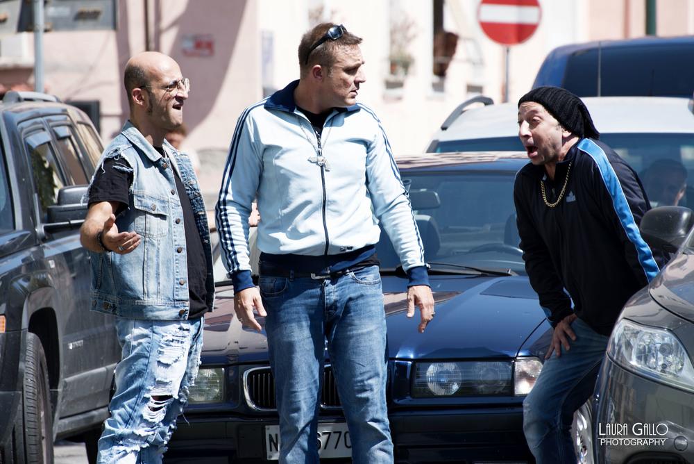 Gomorroide: Raffaele Ferrante, Domenico Manfredi e Francesco De Fraia in un momento del film