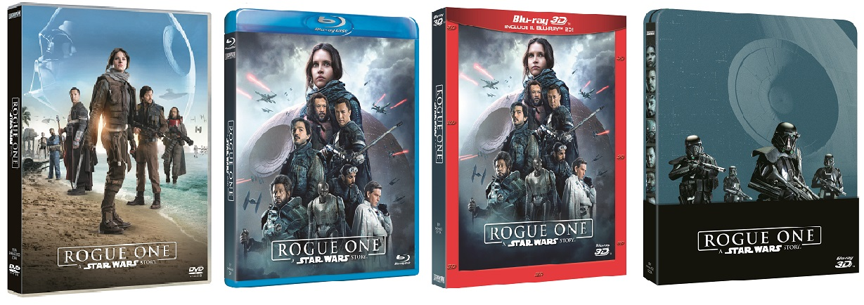 Le cover homevideo di Rogue One