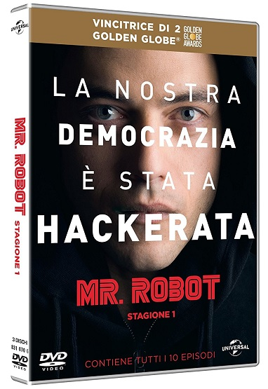 La cover del DVD di Mr. Robot - Stagione 1