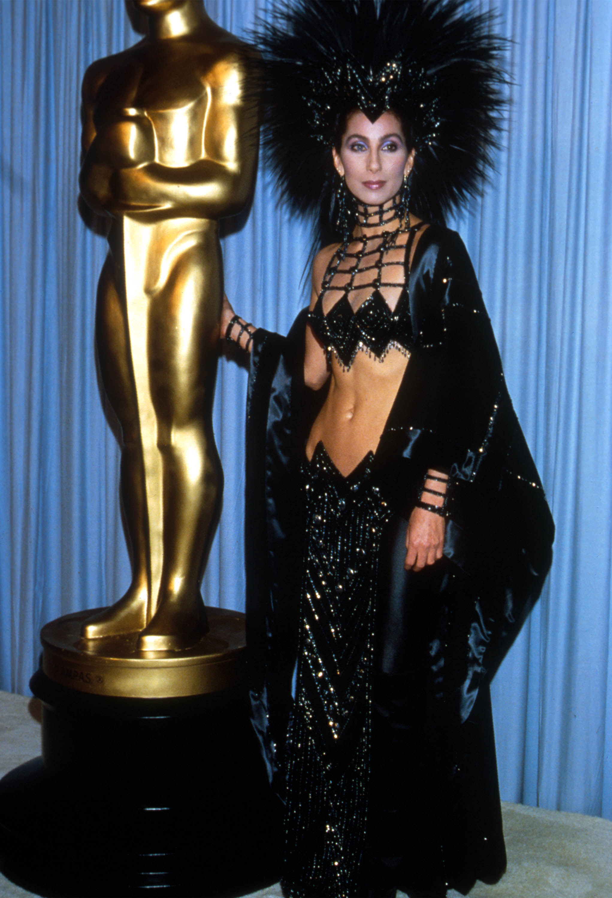 Cher alla cerimonia degli Oscar del 1986