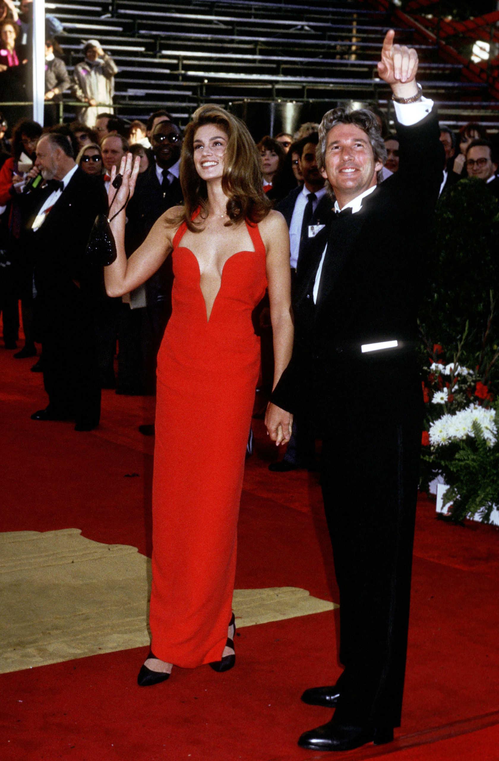 Cindy Crawford e Richard Gere alla cerimonia degli Oscar del 1991