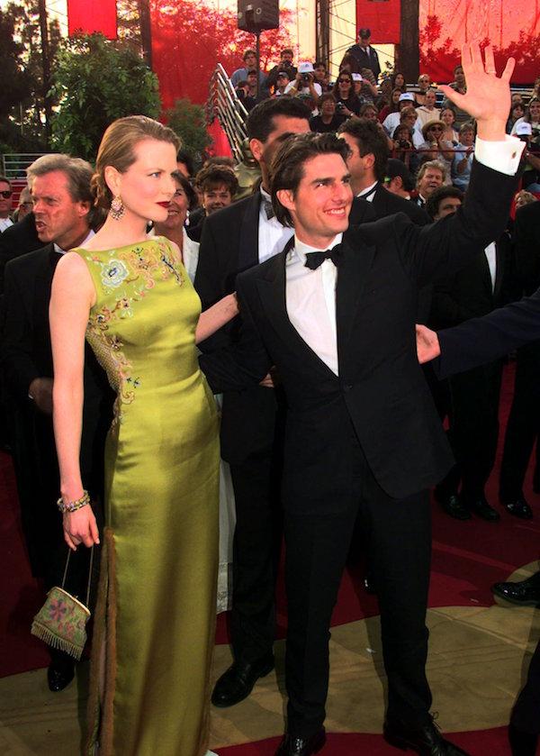 Nicole Kidman e Tom Cruise alla cerimonia degli Oscar del 1997