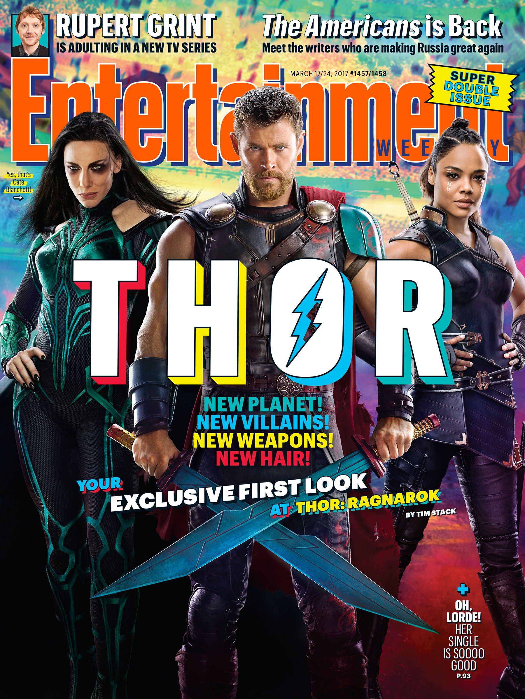 Thor: Ragnarok - La copertina dedicata al film di Entertainment Weekly