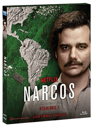 La cover del blu-ray di Narcos