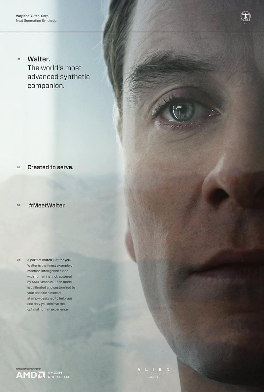 Alien: Covenant - Un'immagine promozionale dedicata a Walter