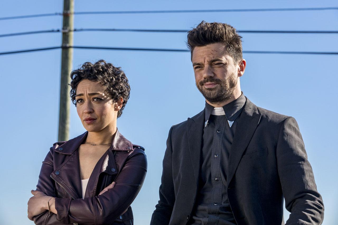 Preacher: una foto di Ruth Negga e Dominic Cooper