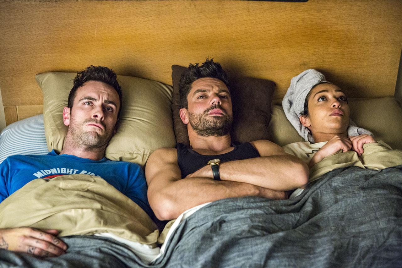 Preacher: Joseph Gilgun, Ruth Negga e Dominic Cooper in una foto della seconda stagione