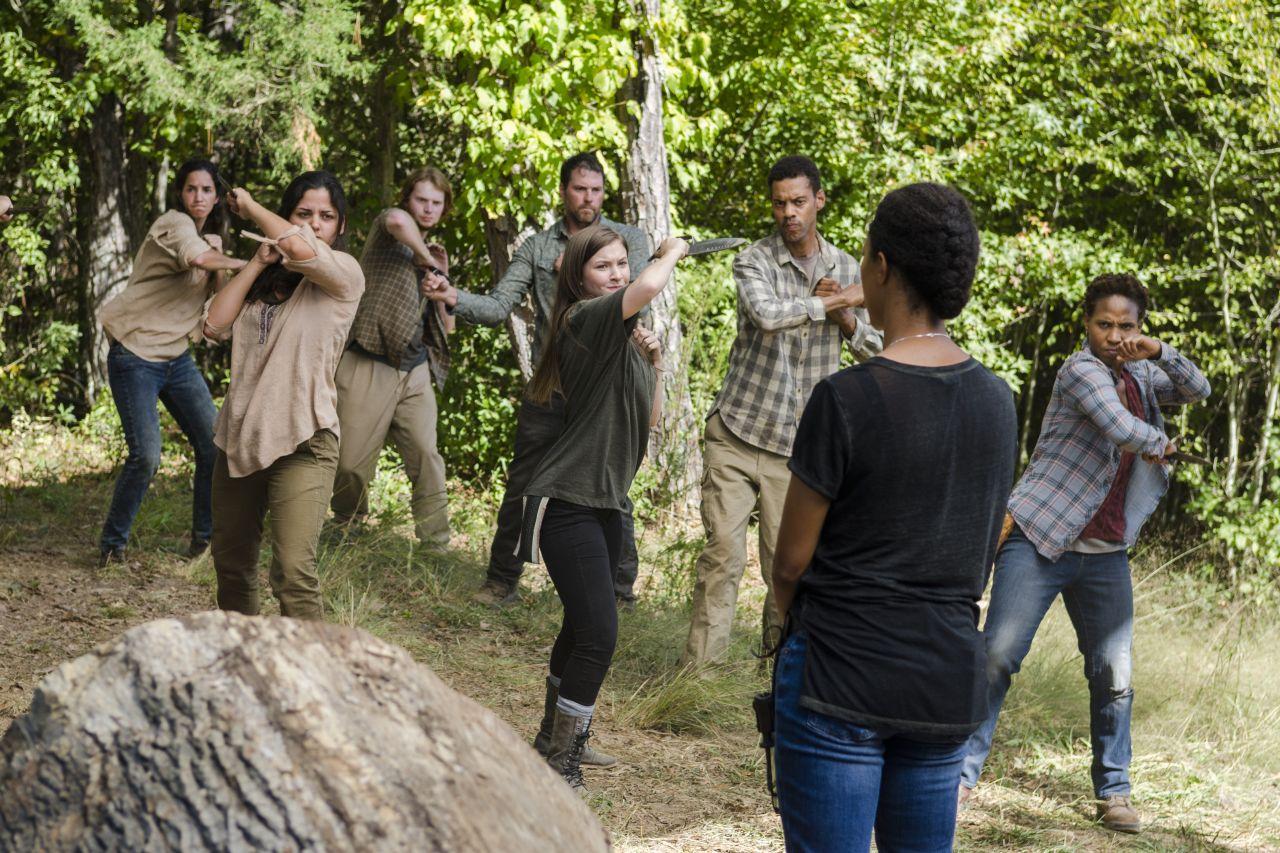 The Walking Dead: una foto dell'episodio The Other Side