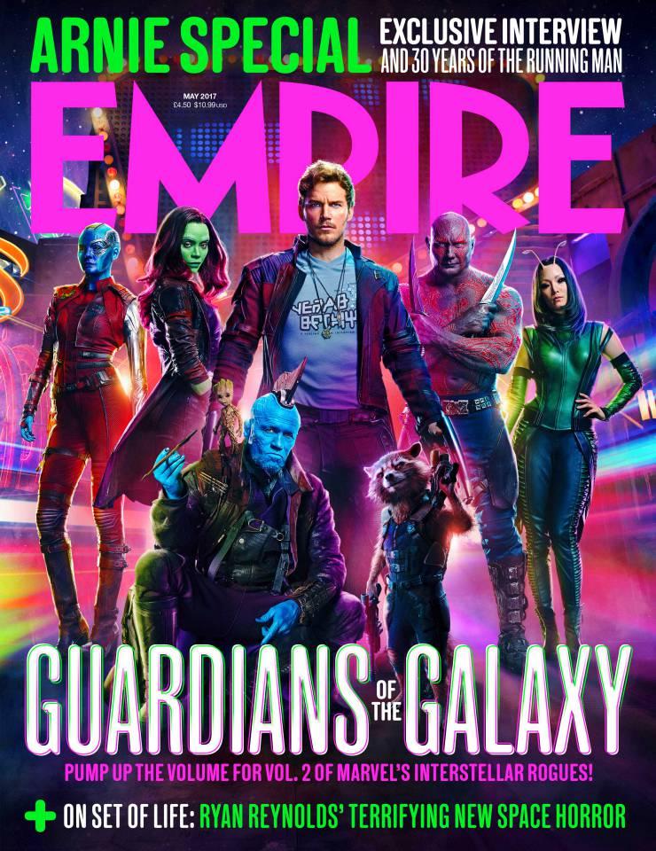 Guardiani della Galassia Vol. 2: la copertina di Empire