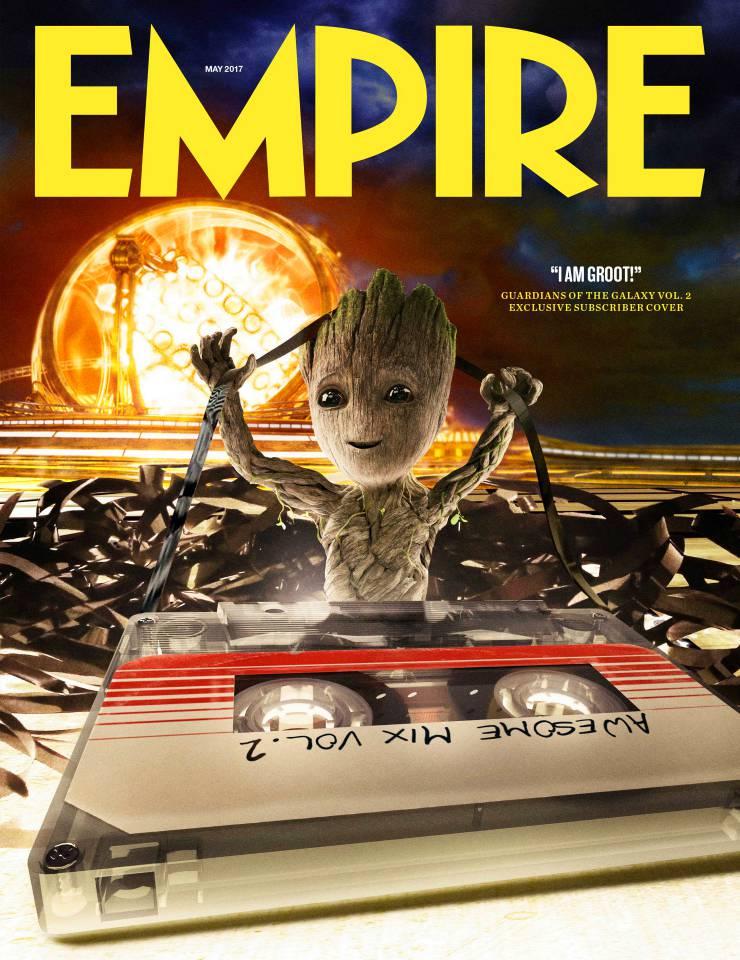 Guardiani della Galassia Vol. 2: Groot nella copertina di Empire