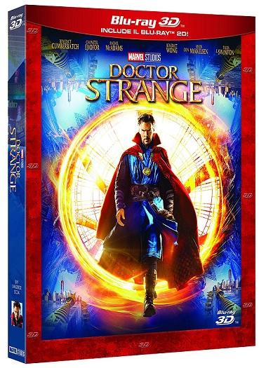 La covoer del blu-ray 3D di Doctor Strange
