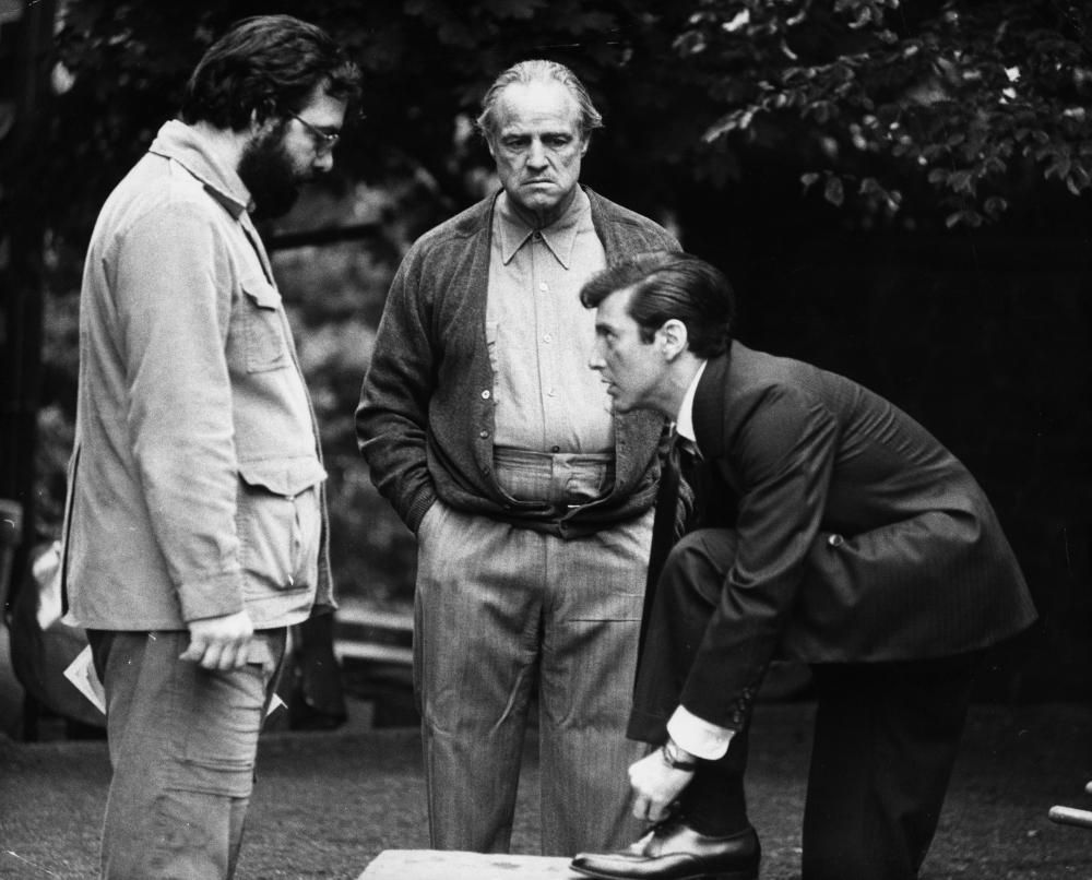 Il Padrino: Francis Ford Coppola, Marlon Brando sul set del film