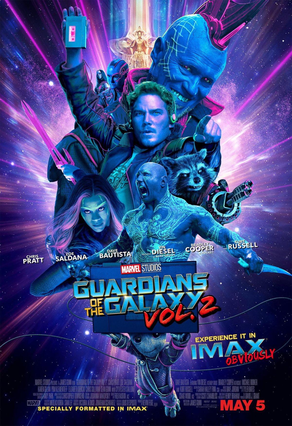 Guardiani della Galassia Vol. 2: il poster del film in IMAX