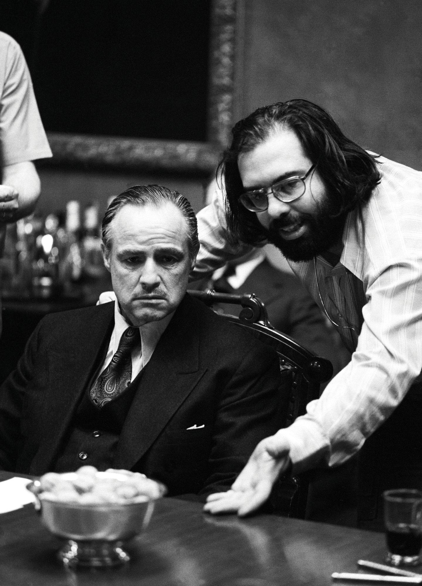 Il Padrino: Coppola e Brando sul set del film