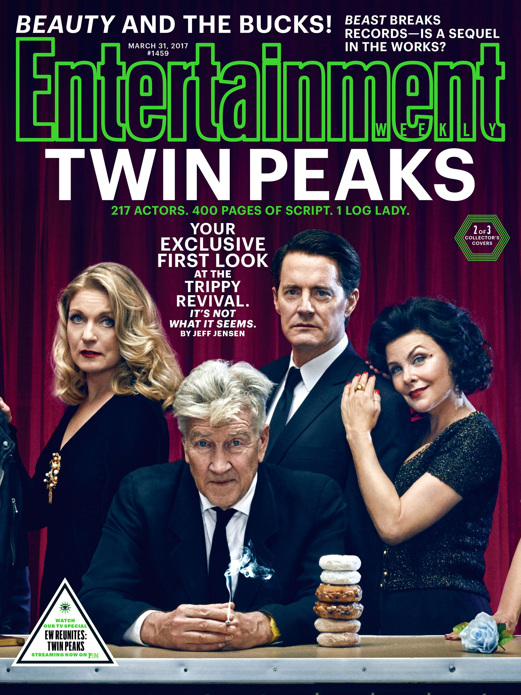 Twin Peaks: David Lynch e i protagonisti sulla copertina di EW