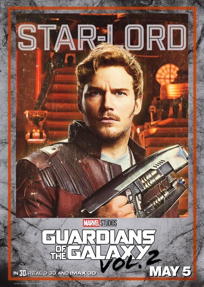 Guardiani della Galassia Vol. 2: il character poster di Star Lord