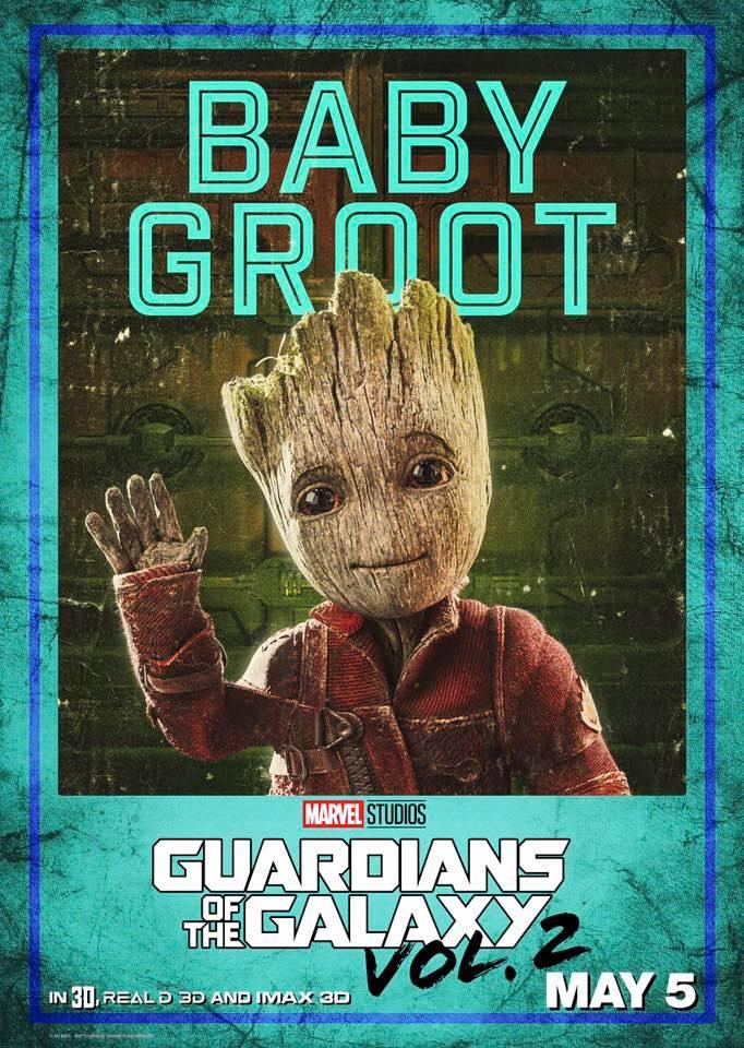 Guardiani della Galassia Vol. 2: il character poster di Baby Groot