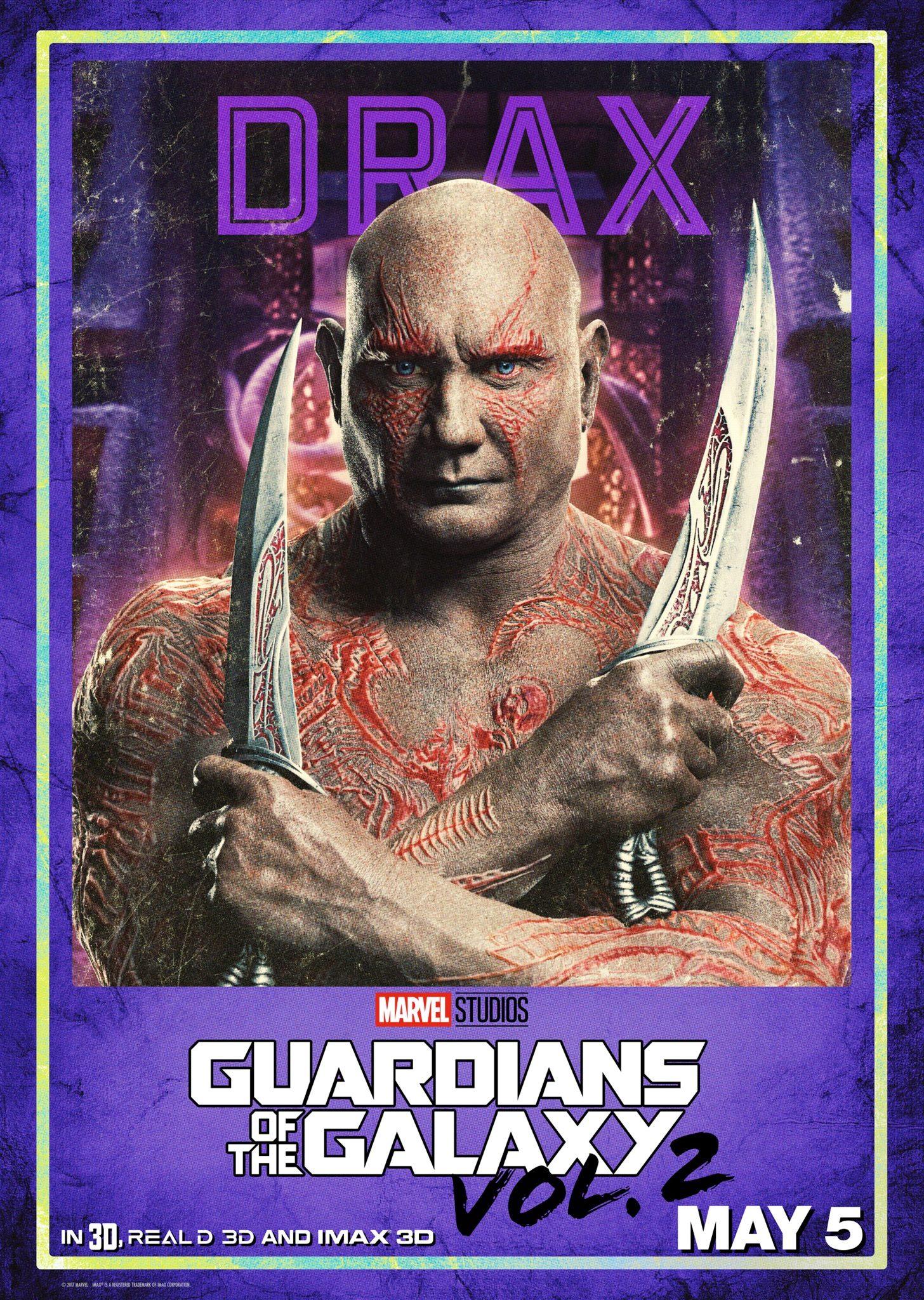 Guardiani della Galassia Vol. 2: il character poster di Drax