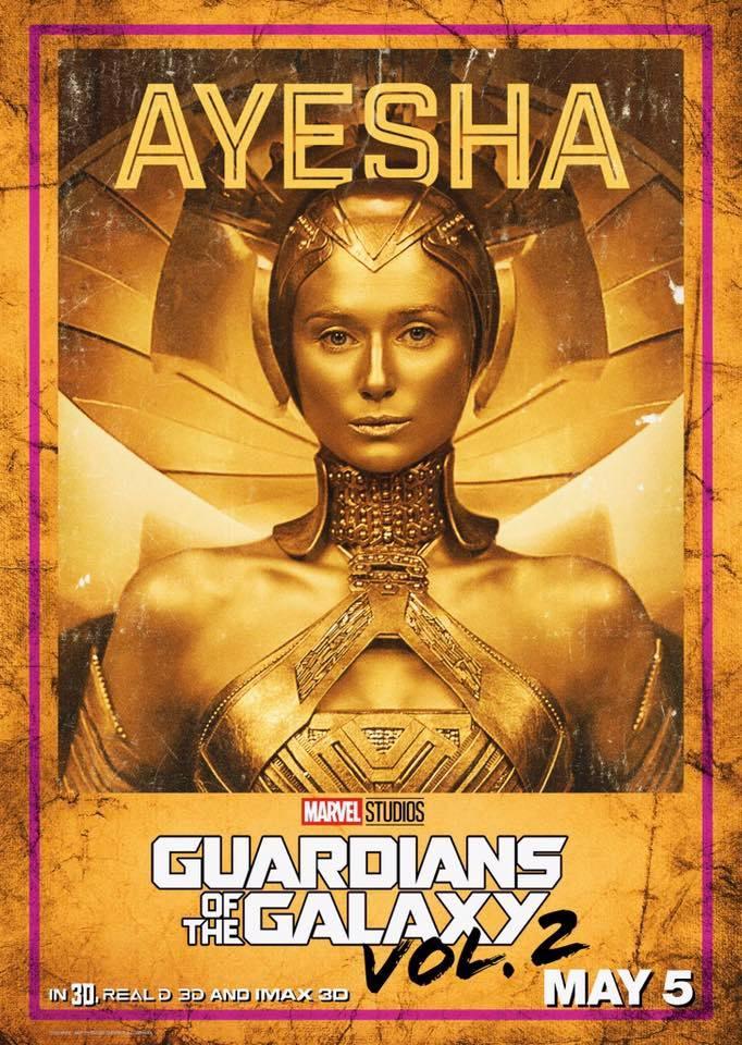 Guardiani della Galassia Vol. 2: il character poster di Ayesha