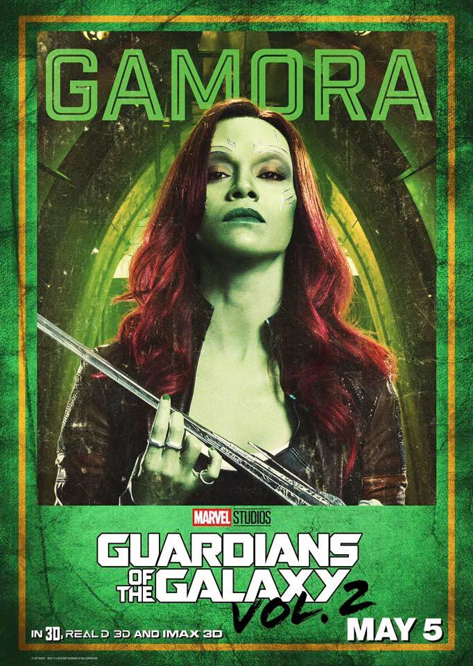 Guardiani della Galassia Vol. 2: il character poster di Gamora