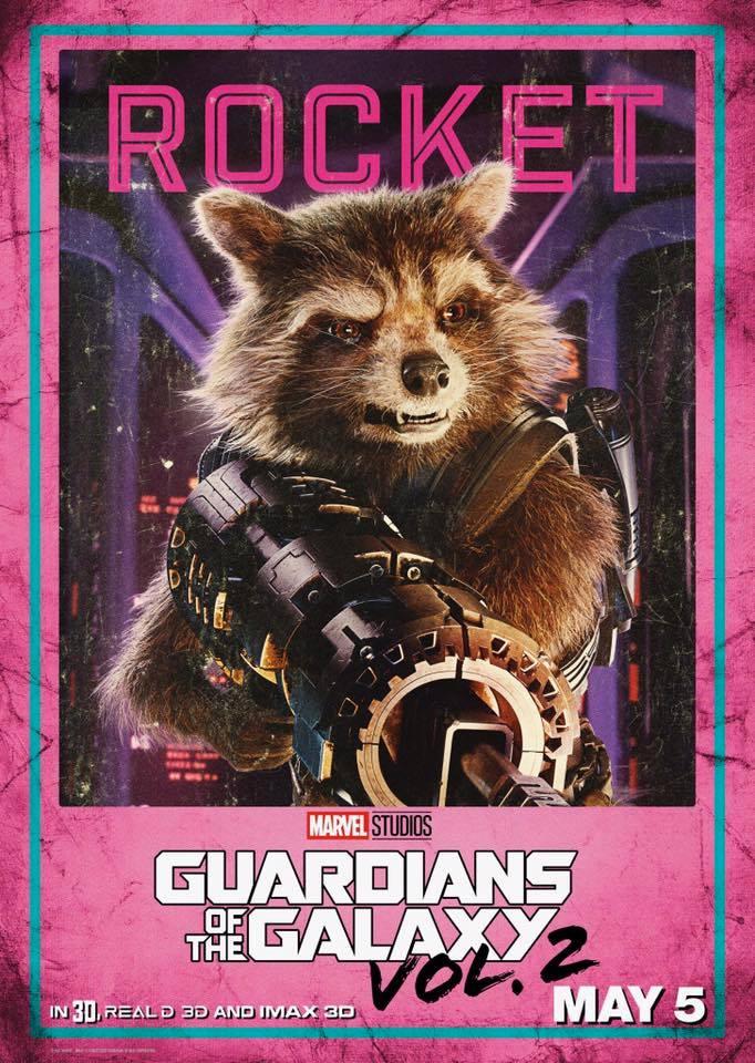 Guardiani della Galassia Vol. 2: il character poster di Rocket