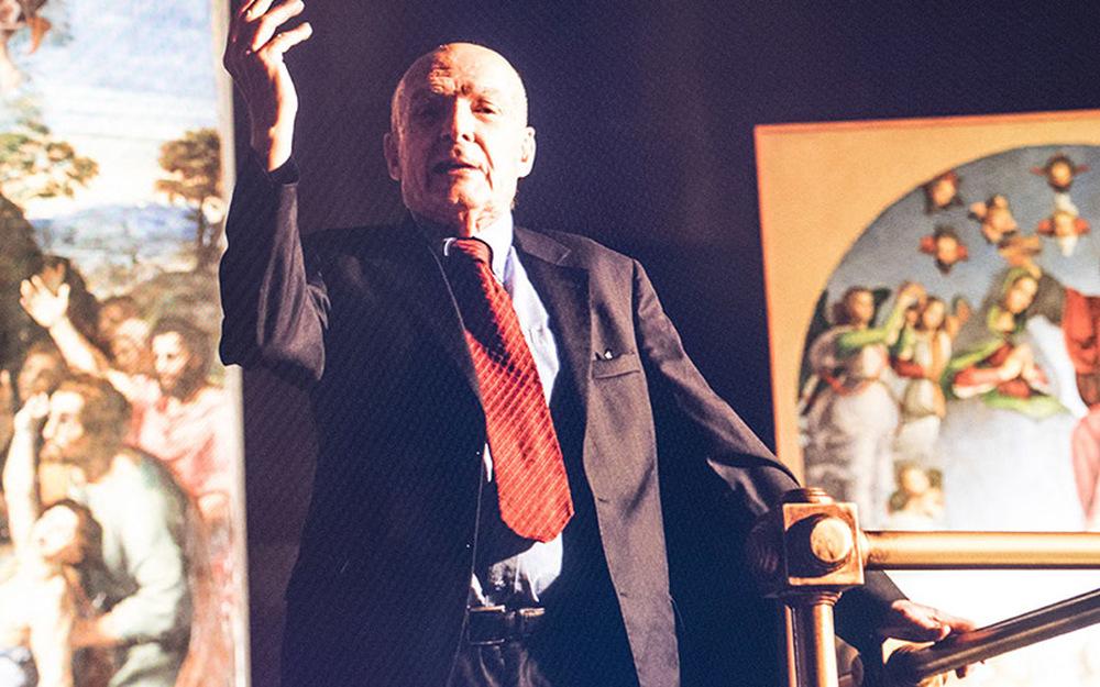 Raffaello - Il principe delle arti: lo storico dell'arte Antonio Paolucci in un momento del docufilm targato Sky