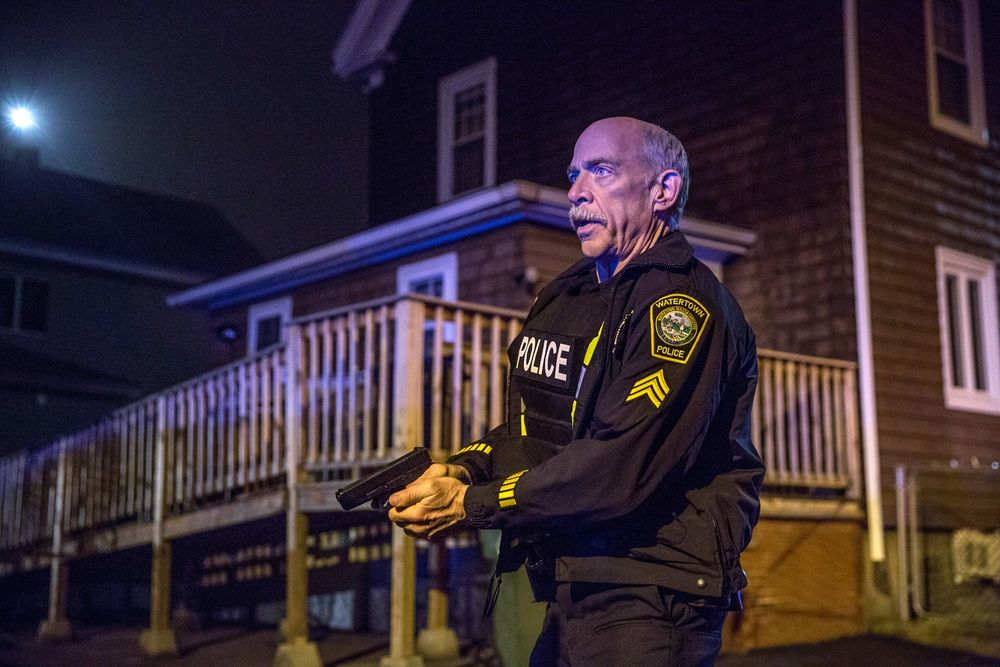 Boston - Caccia all'uomo: J.K. Simmons in una scena del film