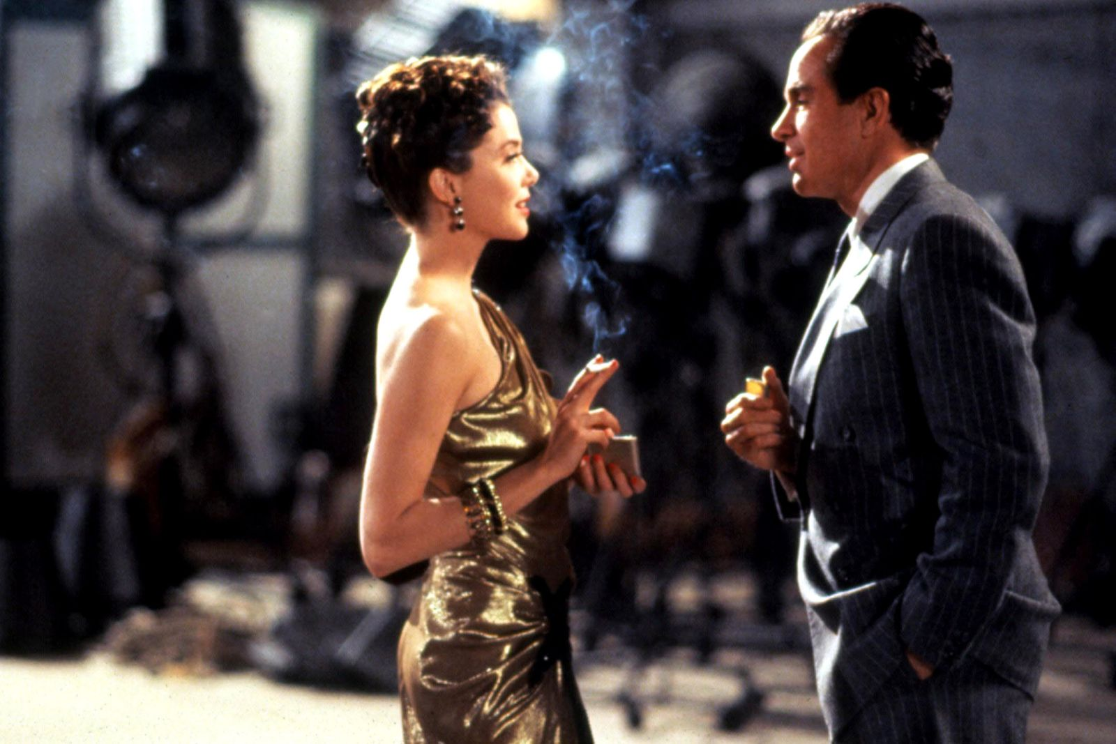 Bugsy: Warren Beatty e Annette Bening in una scena del film